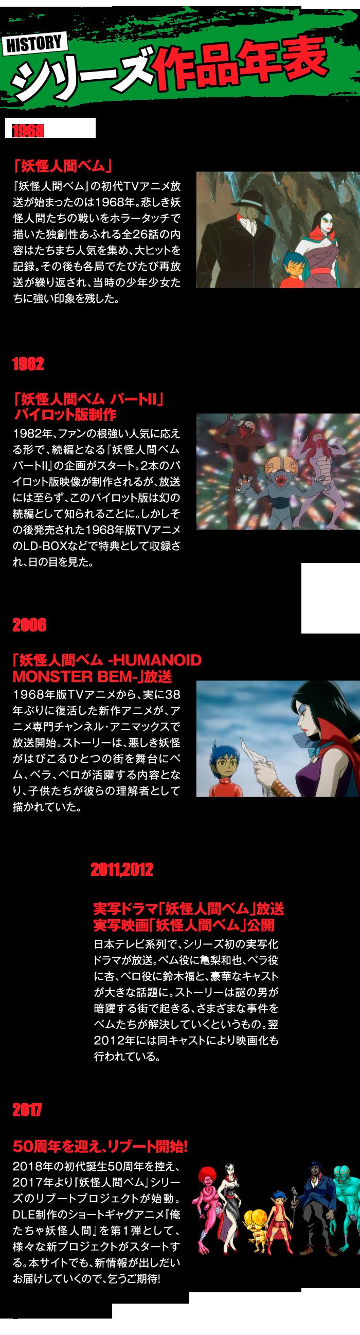 妖怪人間ベム50周年プロジェクト 公式サイト